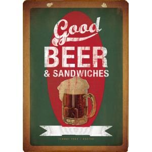 Ξύλινο πινακάκι με vintage διαφήμιση εστιατορίου