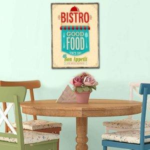 Ξύλινο πινακάκι με ρετρό εξώφυλλο καταλόγου εστιατορίου