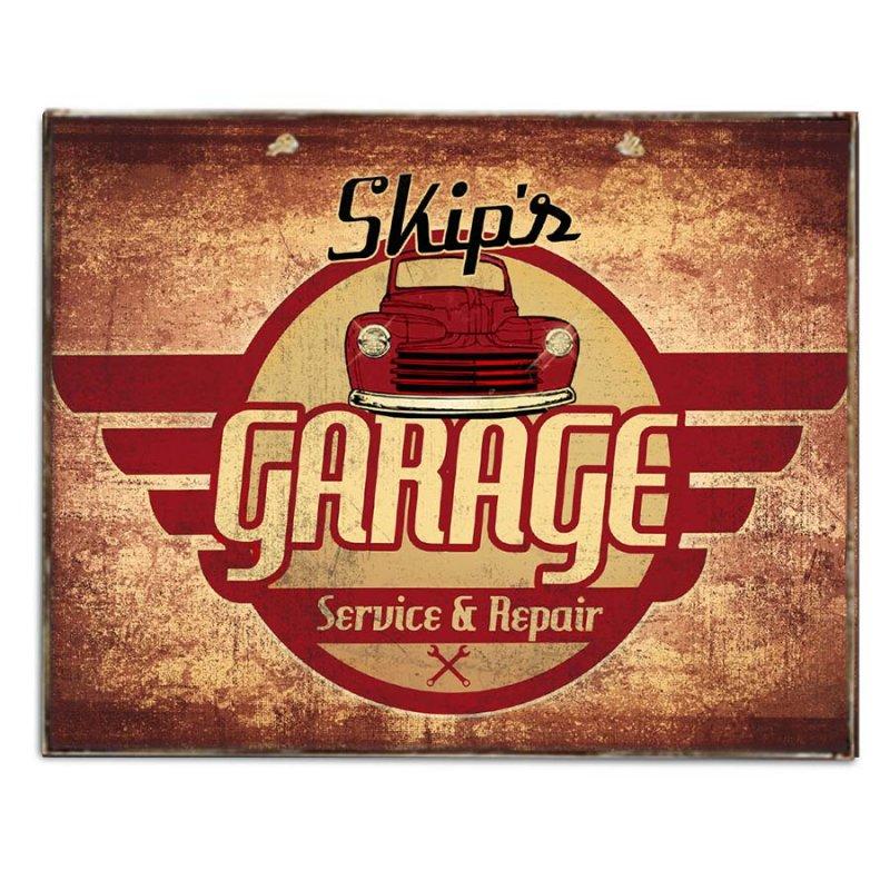 Garaze Σέρβις Ρετρό Πινακάκι με Διαφήμιση