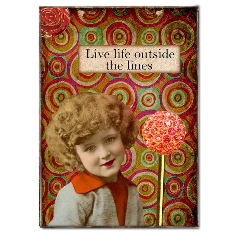 Πινακάκι με μήνυμα Ζωή έξω από τα όρια