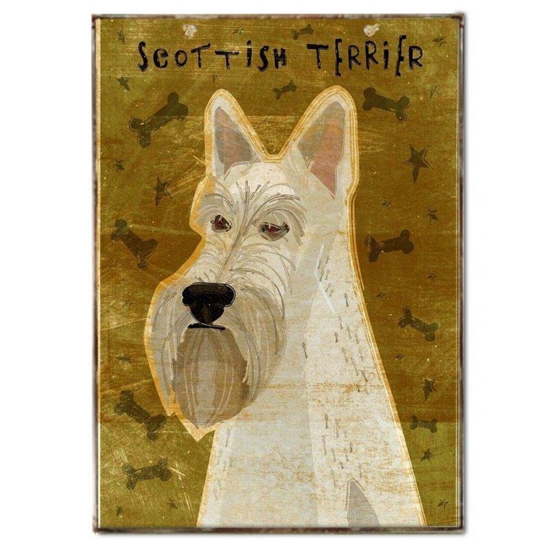 Πινακάκι με Σκυλάκι Ράτσας Σκωτσέζικο Τεριέ
