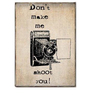 Vintage Πινακάκι χιουμοριστικό με φωτογραφική μηχανή