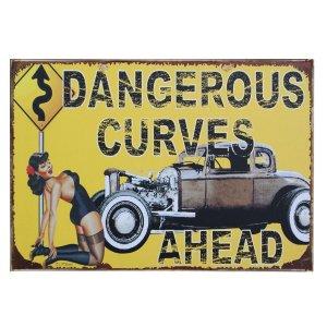 Vintage Πινακάκι Garaze και Pin up Girl
