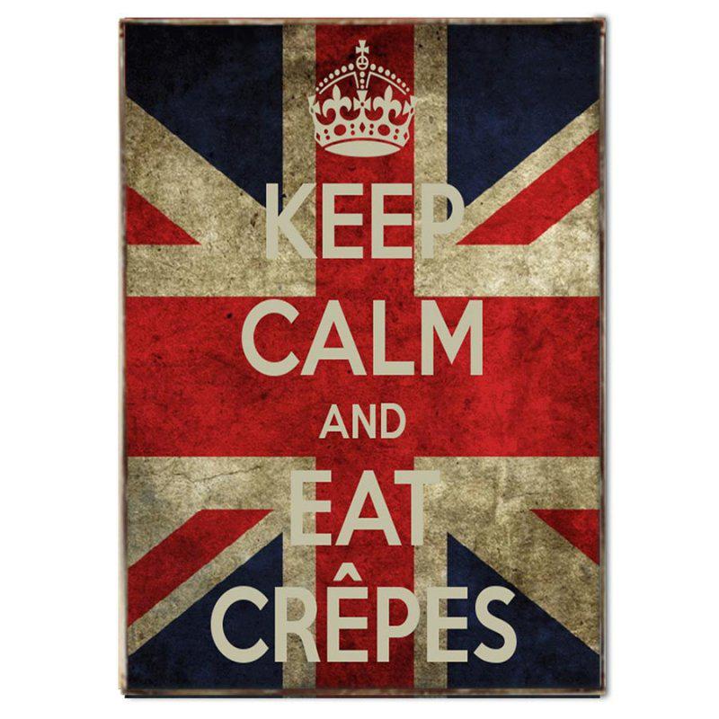 Keep Calm and Eat Crepes Χειροποιήτο Πινακάκι