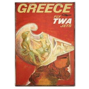 Πινακάκι με Ταξιδιωτικό Πόστερ Greece