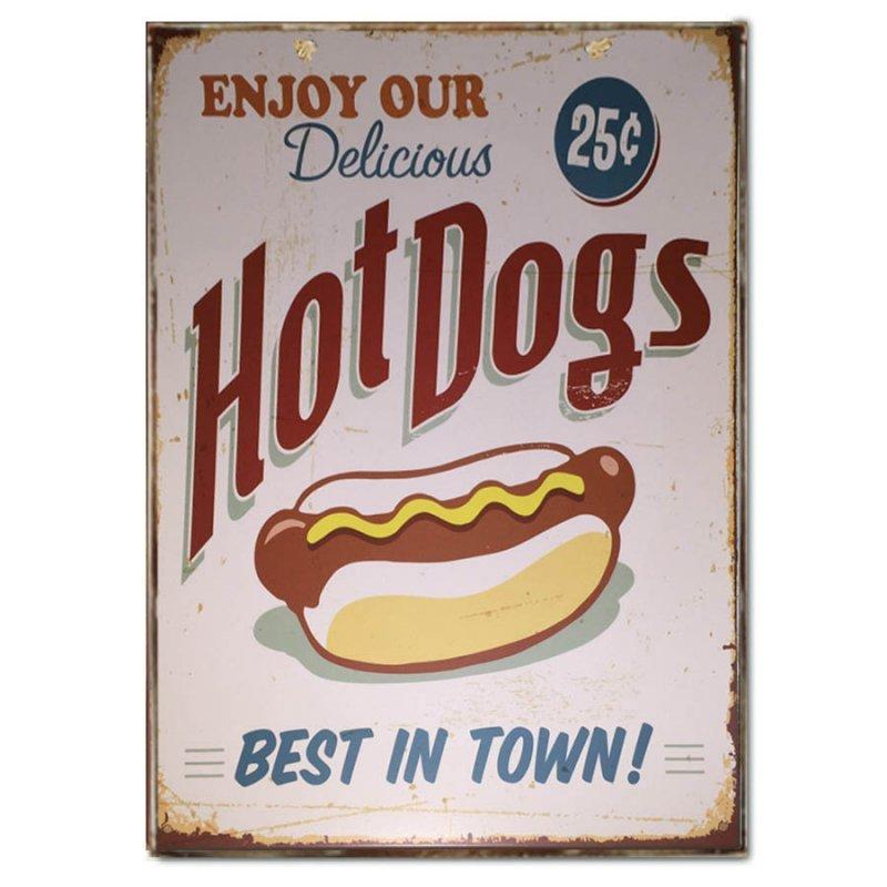 Ρετρό Χειροποίητο Πινακάκι Hot Dog