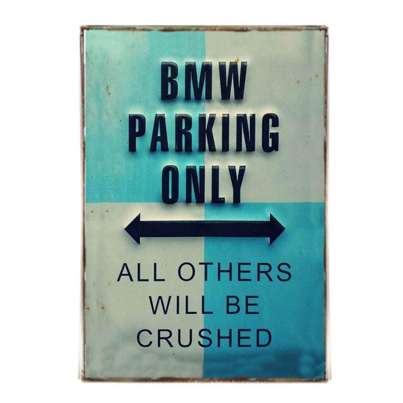 Parking BMW Ρετρό Διακοσμητικό πινακάκι