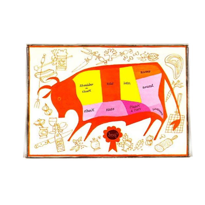Χειροποίητο Πινακάκι για Κρεοπωλείο το Βοδινό