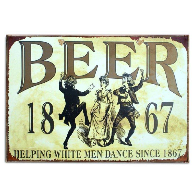 Vintage Χιουμοριστικό Πινακάκι για την Μπύρα