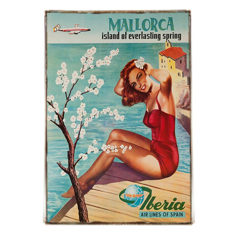 Majjorca Πινακάκι Ρετρό Διαφήμιση