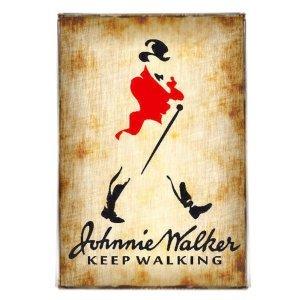 Keep Walking Vintage Διακοσμητικό πινακάκι