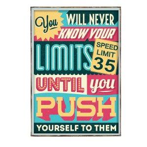 Διακοσμητικό Πινακάκι με μήνυμα Κίνητρο Limits