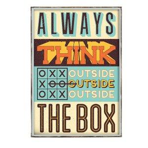 Διακοσμητικό Πινακάκι με μήνυμα Always Think outside the Box