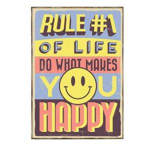 Διακοσμητικό Πινακάκι με Κείμενο Κίνητρο - Make you Happy