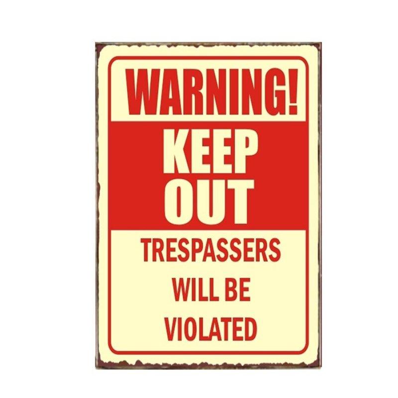 Keep out Διακοσμητικό Πινακάκι Χειροποίητο