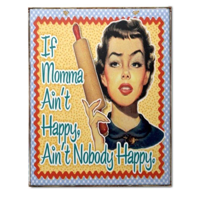 Vintage Χειροποίητο Πινακάκι Όταν η Μαμά δεν είναι Χαρούμενη