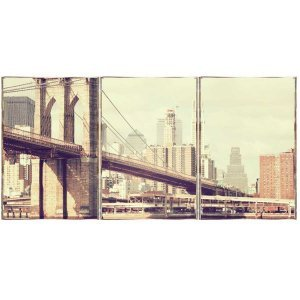 New York Τρίπτυχος Πίνακας  Χειροποίητος - Διαστάσεις ε&om