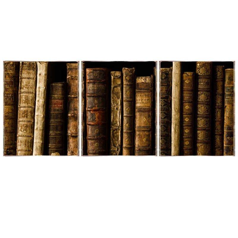 Books Τρίπτυχος Πίνακας  Χειροποίητος - Διαστάσεις εως και  48x96 cm