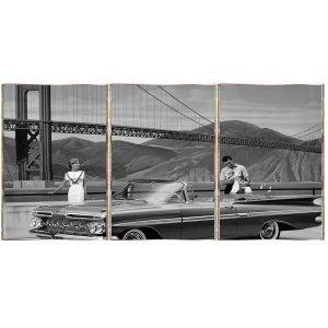 American Dream Τρίπτυχος Πίνακας  Χειροποίητος - Διαστάσεις &epsil