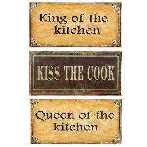 Kitchen Vintage Σετ απο Ξύλινους Πίνακες 13x26cm S/3 τεμ.