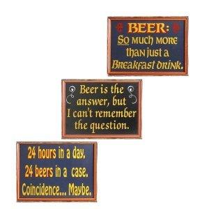 Beer Vintage Σετ απο Ξύλινους Πίνακες 20x25cm S/3 τεμ.