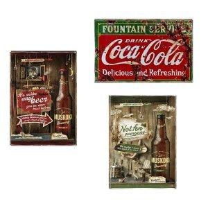 Coca Cola Vintage Σετ απο Ξύλινους Πίνακες 20x30cm S/3 τεμ.