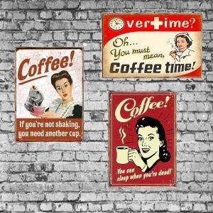 Coffee Vintage Σετ απο Ξύλινους Πίνακες 20x30cm S/3 τεμ.