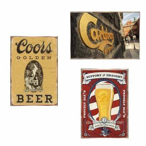 Beer Vintage Σετ απο Ξύλινους Πίνακες 20x30cm S/3 τεμ.
