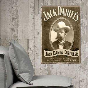 Jack Daniels Vintage Σετ απο Ξύλινους Πίνακες 20x30cm S/3 τεμ.