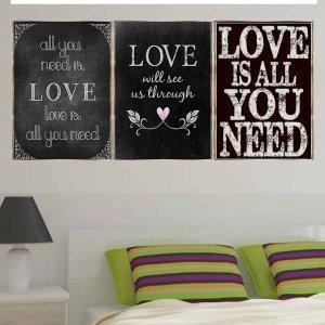 Love ChalkboardVintage Σετ απο Ξύλινους Πίνακες 20x30cm S/3 τεμ.