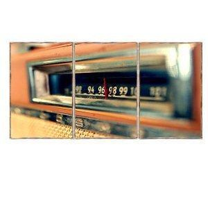 Τρίπτυχος ξύλινος πίνακας χειροποίητος με εικόν&alpha