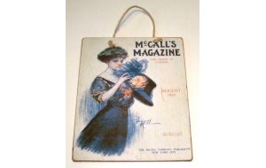 Πίνακας Χειροποίητος διαφήμιση Mc call's Magazine