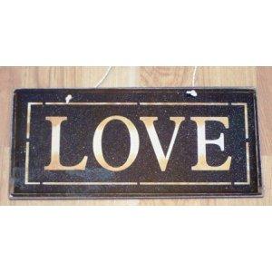 Χειροποίητο Διακοσμητικό Πινακάκι Love