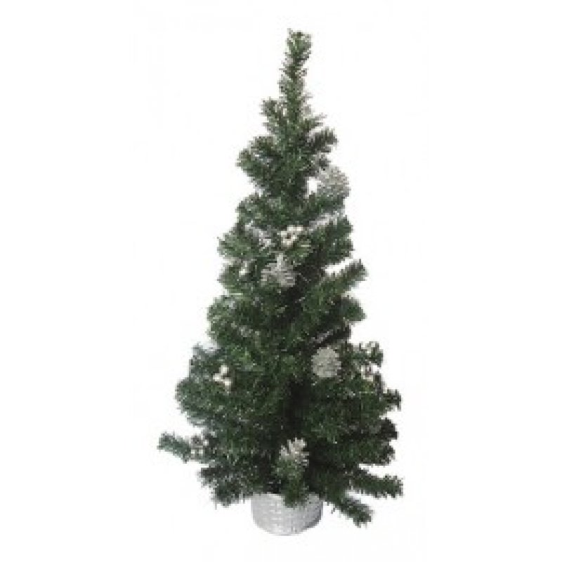 Silver Basket Χριστουγεννιάτικο δεντράκι με ασημί στολισμό 75cm