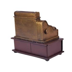 Vintage ταμειακή μηχανή διακοσμητική με συρτάρι 18x11x17 εκ