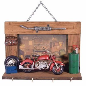 Διακοσμητική κρεμαστή κλειδοθήκη με μοτοσυκ&lambd