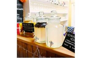 Dispenser Cocktail ή Χυμών Γυάλινο με μεταλική βάση 5,5ltr