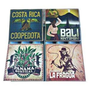 Σουβέρ χειροποίητα σετ 4 τεμάχια Exotic Vintage