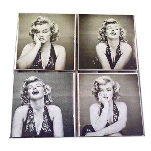 Σουβέρ χειροποίητα σετ 4 τεμάχιαΦωτογραφίες Marilyn Mo