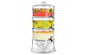 Τριπλό Dispenser Cocktail ή Χυμών με θήκη για πάγο 7,5ltr