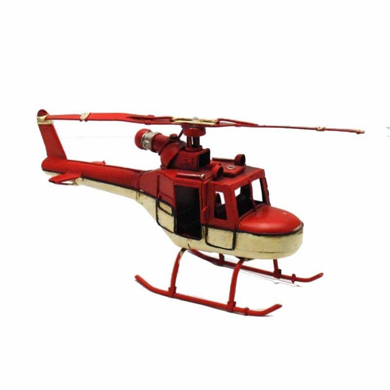 Vintage Διακοσμητικό - Μεταλλικό Ελικόπτερο  18cm