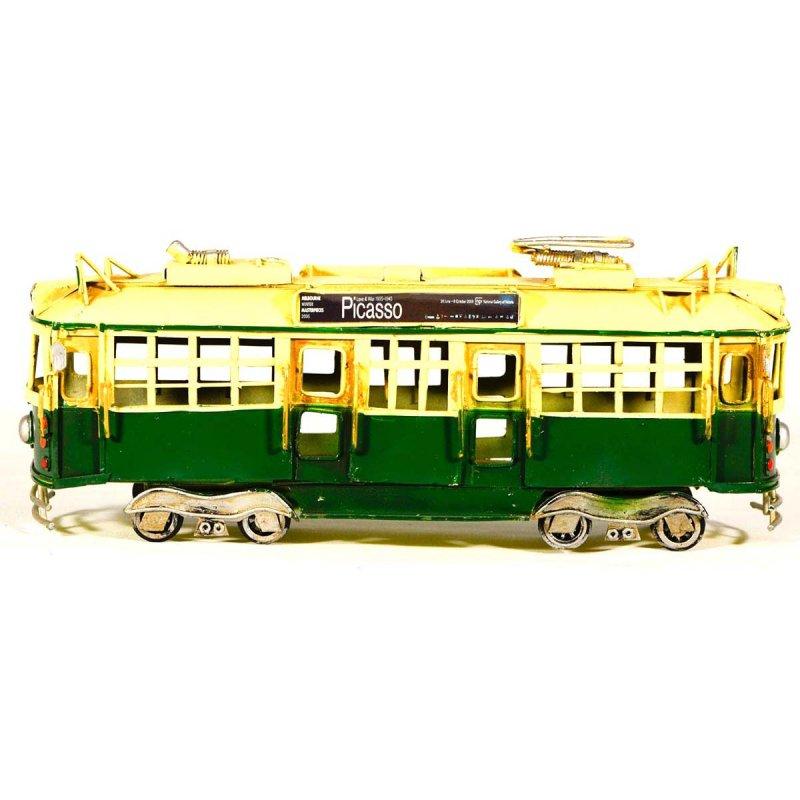 Vintage Μεταλλικό Διακοσμητικό Τράμ 28cm