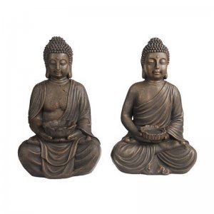 Κηροπήγια Βούδας σετ των δύο τεμαχίων 41 εκ