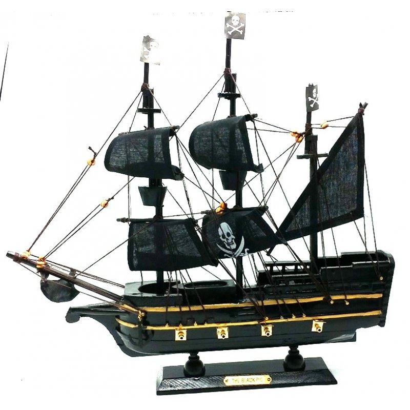 Καραβάκι Πειρατικό Χειροποίητο Τhe Black Pic 33cm