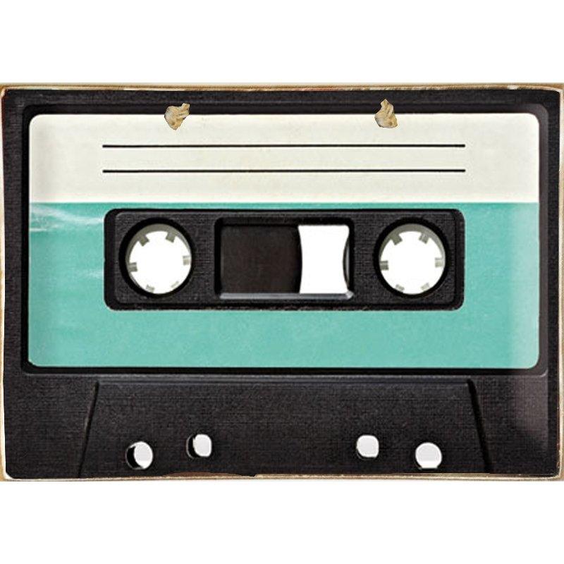 Vintage Ξύλινο Πινακάκι Tape 20 x 30 cm