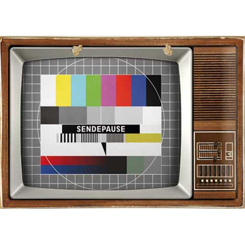Vintage Ξύλινο Πινακάκι Tv 20 x 30 cm