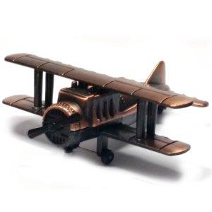 Vintage Μεταλλική Μινιατούρα Aεροπλάνο 8cm