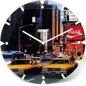 Γυάλινο Ρολόι Τοίχου  US Cab 30cm