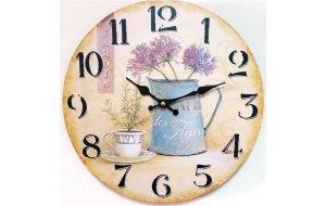 Garden Ξύλινο Vintage Ρολόι Τοίχου 30cm