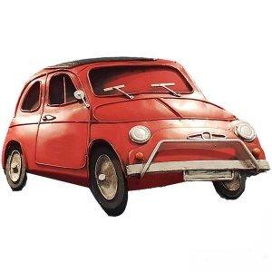 Vintage Μεταλλικό Κάδρο Fiat 500 31x22cm